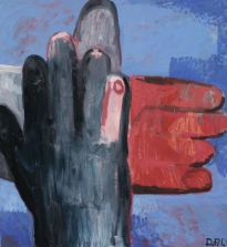 Name: Hands, Size: 140×140 Technique: Oil on canvas